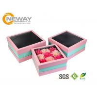 Wholesale Flower Gift Box Off - White Splendid Retail Gift Flower Paper Box With Clear Window from china suppliers