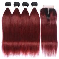 Buy cheap Silky Straight 24 Inch Clip In Hair Extension , Real Human Hair Weave from wholesalers