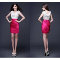 Wholesale Knee Length Ladies Party Dresses V Neck Shiny Crystal Beads from china suppliers
