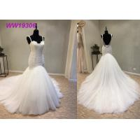 Wholesale Crystal Beading Mermaid Prom Dresses / Luxury Long Tail Mermaid Wedding Dress from china suppliers
