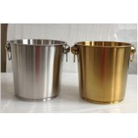Wholesale Hot Sales 7L 9L Stainless steel Ice Bucket Golden Mirror Sanding Polishing High Quality OEM from china suppliers