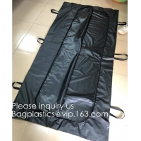 Wholesale Body Bags, CE Death Body Bag For Virus Infected Patient Black Body Mortuary Bags For Dead Bodies Corpse Storage Bag from china suppliers