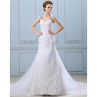 Wholesale Lace Flower Strapless sweetheart neckline Wedding Gowns with open back from china suppliers