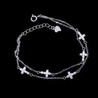 Wholesale Little Cross Shape Personalized 925 Silver Cubic Zirconia Bracelet Minimalist Style from china suppliers