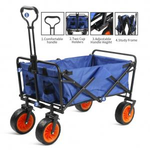 Wholesale ODM Portable Folding Trolley Cart Oxford Fabric Four Wheel Trolley from china suppliers