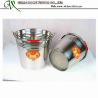 Wholesale Promotion Stainless Steel Bucket many different size 30cm 32cm 34cm 36cm 10L 12L 14L 16L 20L S/S201 from china suppliers