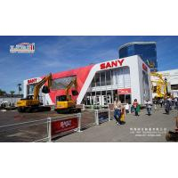 China 10X35m white thermo roof cube structure double decker tent used for Sany exhibition VIP room with Sany Sign advertising on sale