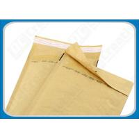 Buy cheap Flexible Resealable Post Kraft Bubble Envelopes , Self-Seal Bubble Packaging Bags from wholesalers
