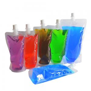 Wholesale Reusable Concealable Plastic Drink Pouches For Juice Sauce Shampoo from china suppliers