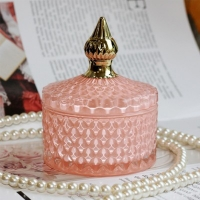 Wholesale European Style Handmade Footed Glass Candy Jars Unique Shape from china suppliers