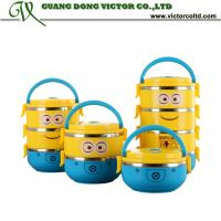 Wholesale Despicable Me Minions Cartoon lunch box 1,2,3 4 layer food container thermal lunch box Insulation box from china suppliers