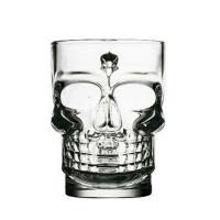 Wholesale Creative Skull Shape 500ml Personalized Glass Cup Borosilicate from china suppliers