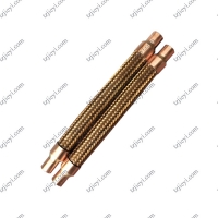 Wholesale Bronze braided corrugated hose can be used for air conditioning shock absorber pipe from china suppliers