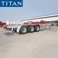 Wholesale 3 Axle Container Trailer Chassis 20ft / 40ft Skeleton Semi Trailer from china suppliers