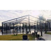 China 20x40m Transparent Aluminum Structure Tent With Glass Sidewall And Glass Door on sale