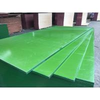 China China ACEALL Construction Shuttering Green PP PVC Plastic Film Coated Plywood Board Lumber on sale