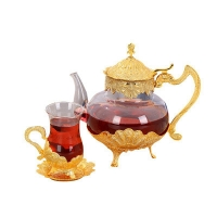 Wholesale 600ml Borosilicate Vintage Heat Resistant Glass Teapot from china suppliers