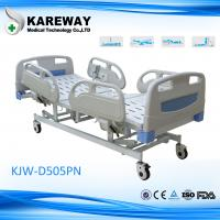 China Vip Room Beige ICU Hospital Bed , 5 Inch Caster Critical Care Beds With No Noise on sale