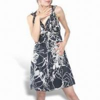 Wholesale Women's Yardage Printed Silk Dress from china suppliers