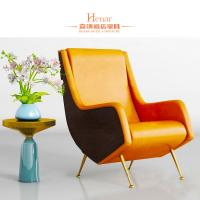 China Customized Luxury Living Room Furniture / Office Waiting Room Chairs With Golden Leg on sale