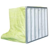 Wholesale Fire Retardant Pocket Air Filter AHU / Yellow F8 Non Woven Material With 6 Bags from china suppliers
