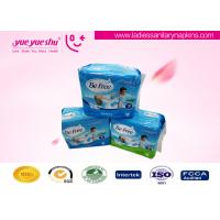 Ladies 270mm Ultra Thin Sanitary Napkin With Blue Core , Daytime Use Cotton Sanitary Pads