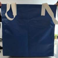 Wholesale Square Waterproof Recycled Jumbo Bag Flat Bottom / Side Discharge Design 500kg - 1500kg from china suppliers