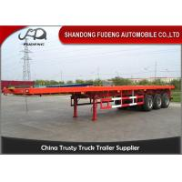 China 20-40ft used container chassis, 60Tons flatbed container semi trailer on sale