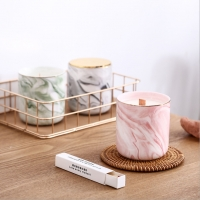 Wholesale Empty Round Ceramic Candle Holder Cottage Handmade Colorful Candle Container from china suppliers