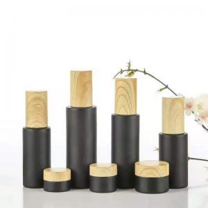Wholesale 6ml Leakproof Cosmetic Glass Bottles Roller Ball Perfume Bottle With Bamboo Lid from china suppliers