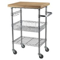 Wholesale Chrome Finish Kitchen Wire Utility Cart With Wheels Multifunctional from china suppliers