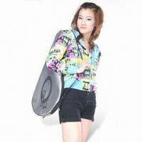 Wholesale Women's Allover Printed CVC Fleece Hoodie from china suppliers