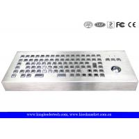 Wholesale 86 Keys Dust-proof Metal Industrial Computer Desktop Keyboard With Trackball from china suppliers