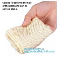 Wholesale Cotton Mesh Net bag Shopping Tote Bag for foods,Reusable Net Cotton Mesh Tote Fruit Bag With Long Handle,bagplastics pac from china suppliers