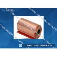 Quality Extraordinary strength Shielding copper foil sheet roll , Conductive Copper Foil for sale
