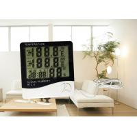 Wholesale ABS Material Plastic Digital Room Thermometer Hygrometer With Probe Daily Alarm Function from china suppliers