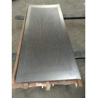 Wholesale Broad Spectrum Perforated Metal Plate / Punched Metal For Filtration from china suppliers