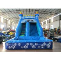 Wholesale Small inflatable mini castle water slide The frozen castle inflatable tiny water slide for children under 8 years from china suppliers
