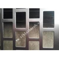 Wholesale 1m Width Rectangular Hole Perforated Metal Plate Galvanized Plate 2m Length from china suppliers