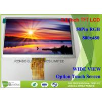 TN Type Tft LCD screen 7 Inch 50 Pin RGB Interface Customized For Office Electronics