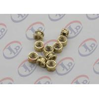 Wholesale OEM ODM CNC Machining Parts , Swiss Lathe Turning Brass Knurled Nuts with M5 Thread from china suppliers