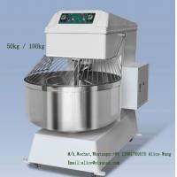 China Safe Industrial Bread Mixer 100kg Bread Dough Mixer Machine Low Voltage Protection on sale