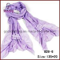 China Ball Pendant Fashion Element Polyester Solid Scarf (B28-6) on sale