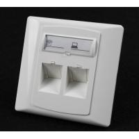 Wholesale Germany Type 86*86 45 Degree Wall Mount Socket Double Port Face Plate With Shuttle from china suppliers