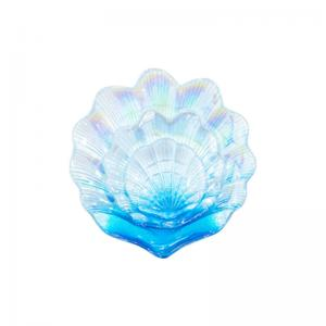 Wholesale Handmade Unique Shell Plate Glass Tableware Fruit Plate Glass Plate For Wedding from china suppliers