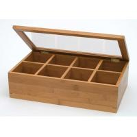 Buy cheap Custom Logo Natural Bamboo Gift Box , Handmade Bamboo Tea Bag Storage Box With from wholesalers