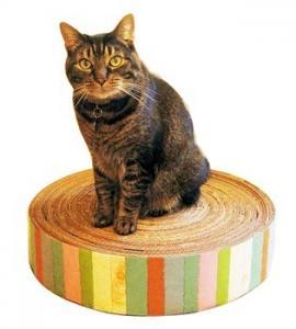 China Luxury Corrugated Cardboard Cat Scratcher Cat Sporting Toys / Ramp , Glossy Lamination on sale