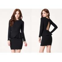 Wholesale Chic Open Back Women Cute Clubbing Dresses With Long Sleeves from china suppliers