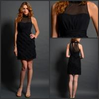 Wholesale Black High NeckIllusion Neckline Prom Dress Sleeveless for women from china suppliers