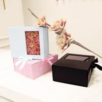 Wholesale Card Board Paper PVC Window Folding Packaging Boxes Tie A Bow Ribbon Rose from china suppliers